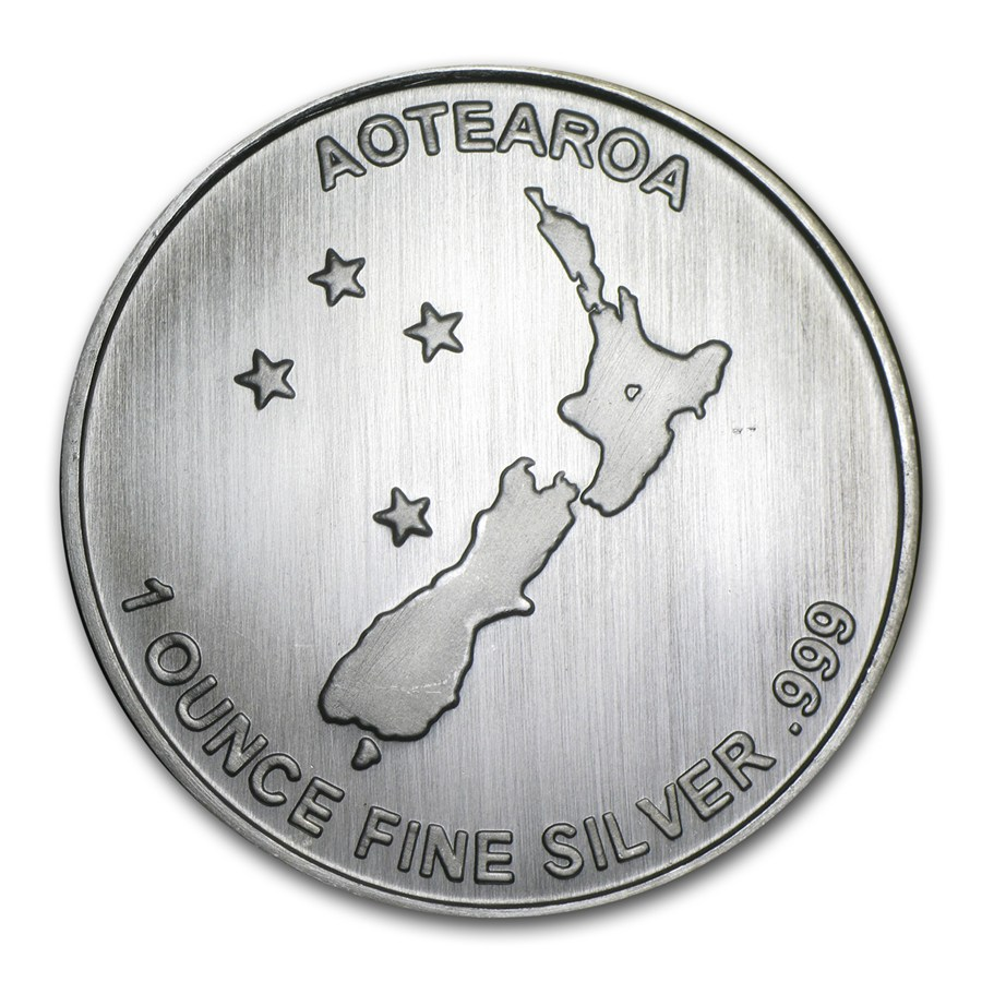 1 oz New Zealand Silver Fern Round